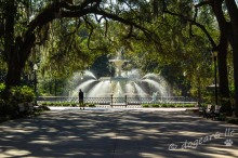 Forsyth Park Fountain, Savannah Georgia
