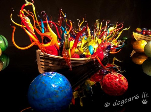 Chihuly glass at the Virginia Museum of Fine Art