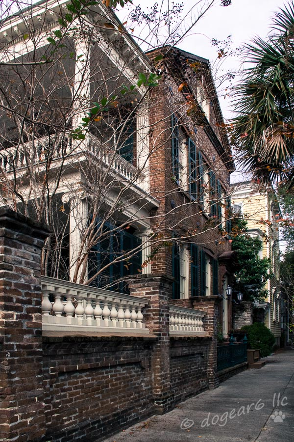 View of another mansion; you can see by the sidewalk that it wasn't possible to get far enough away to take a picture straight on from the front.