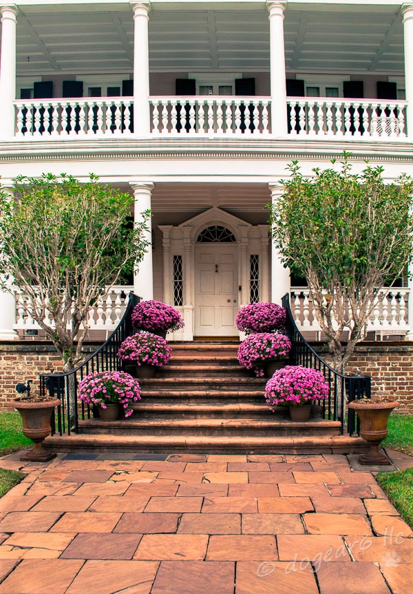 One of the lovely entrances to a mansion in Charleston, South Carolina