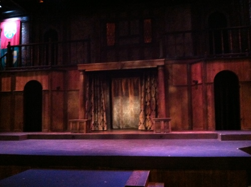 Stage before the play began.