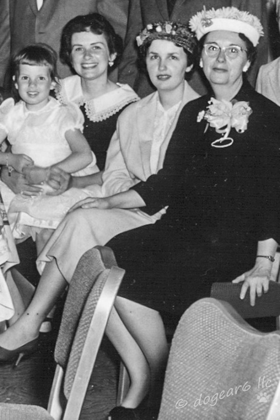 L to R - me, my mother, my aunt & my great-aunt