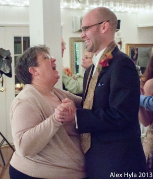 I'm dancing with my son-in-law.