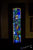 Stained glass panel from St. Saviour's Episcopal Church in Bar Harbor, Maine