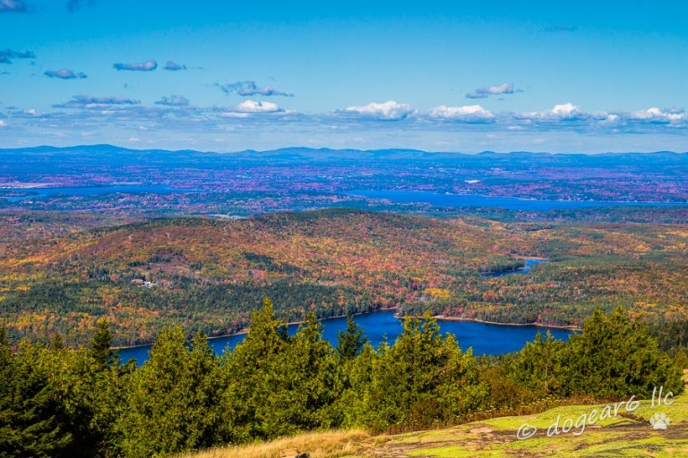 View from Cadillac Mountain, Mount Desert Island, Maine.  This was taken from the Blue Hill Overlook.