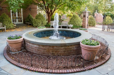 Fountain; October 2014 at Lewis Ginter Botanical Gardens, Richmond, Virginia
