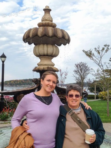 My daughter and I together in Bar Harbor, Maine