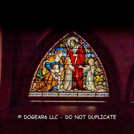 After adjusting the stained glass, the background is now grainy and too light.