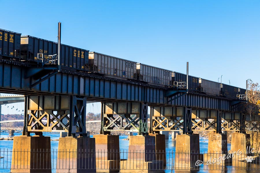 Train Cars on Brown's Island in Richmond, Virginia, with minimal post processing.