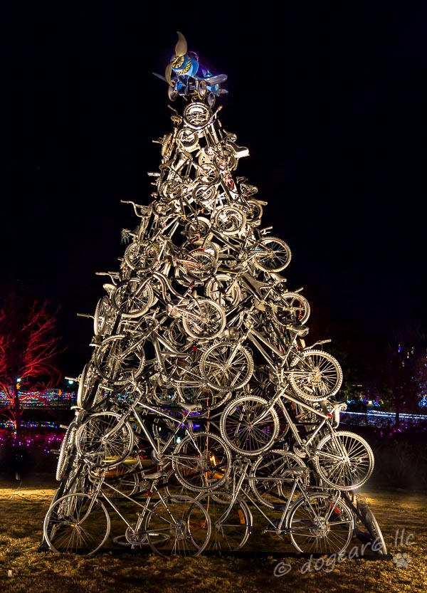 Bicycle Christmas Tree at the Lewis Ginter Botanical Gardens in Richmond, Virginia