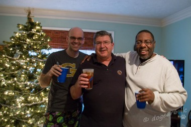 My son-in-law, husband, and family friend