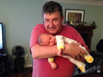Grandpa soothing the baby
