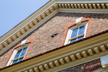 Yes, that is a cannonball in the bricks
