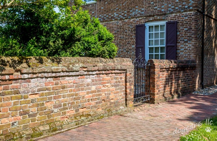 I thought this brick wall as interesting in Yorktown, Virginia